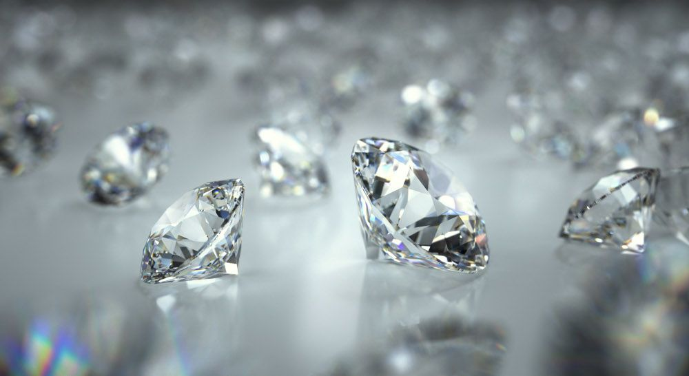 Diamanten unterschiedlicher Grösse unterschiedliche Carat Zahl 1 Carat 1-Caräter