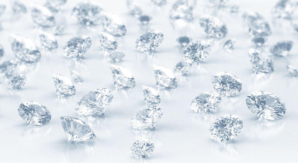 Lose ungefasste Diamanten grosse und kleine Brillanten