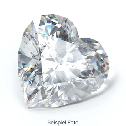 Beispiel für einen Diamanten mit Schliff Form Herz wie er bei Diamanthaus gekauft werden kann