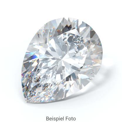 Beispiel für einen Diamanten mit Schliff Form Tropfen wie er bei Diamanthaus gekauft werden kann