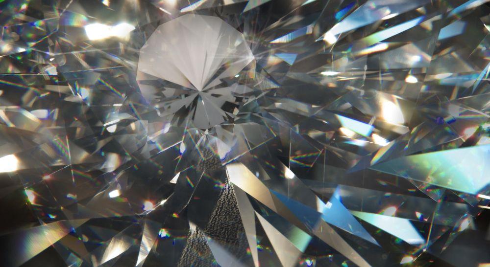 Diamant unbehandelt echt natürlich konfliktfrei Facetten Funkeln Regenbogen Reflektion