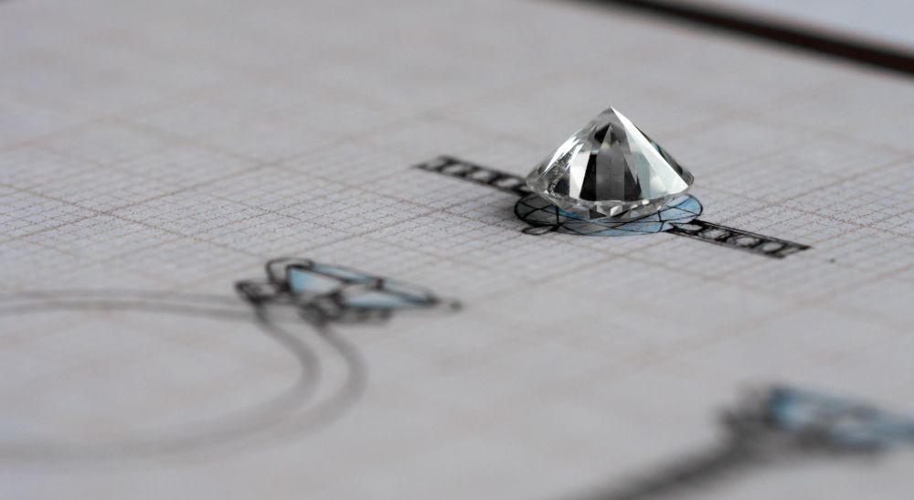 Diamant Schmuck selbst kreieren Goldschmied fassen lassen